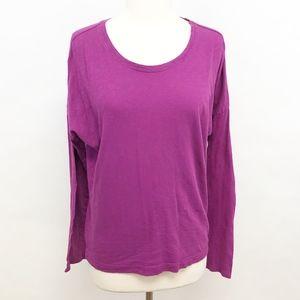 lucy | long sleeve scoop neck tee top blouse